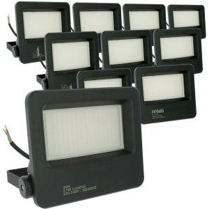 Eclairage Design - Lot de 10 Projecteurs LED Extérieur 30W Forte luminosité STRONG P65   Température de Couleur: Blanc neutre 4000K