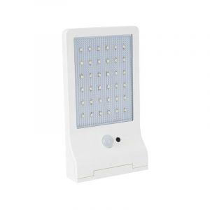 Lampe LED Solaire 3W 370 Lumens LI ION 6000K Applique Blanc exterieure avec detecteur de mouvement - Aslo