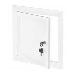 250x350mm Blanc PVC Couvercle Chambre D'inspection Panneau Accès Serrure Clé - AWENTA