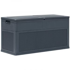 Youthup - Boîte de rangement de jardin 320 L Anthracite