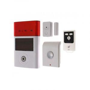 Kit autonome sans-fil double sirène + détecteur d'ouverture porte et fenêtre + télécommande (gamme BT) - ULTRA SECURE