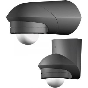 Détecteur de mouvements PIR Grothe 94533 pour lintérieur, pour lextérieur en saillie 120 ° relais noir IP55