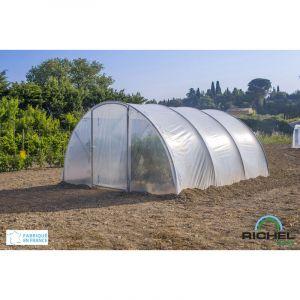 Richel - Serre 4,50x4,50m (20,25m2) tunnel 1 porte battante (tube 32mm film 2*180?)