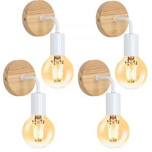 Applique Murale Luminaire Lustre abat-jour Design Tube Tuyau Industriel Rétro Eclairage Decoratif pour bar, salon et chambre - STOEX