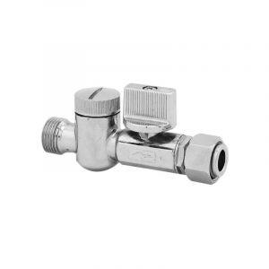 Mini vanne d'arrêt 1/4 tour mâle-femelle 12x17 avec filtre incorporé NOYON & THIEBAULT
