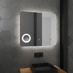 Miroir salle de bain LED auto-éclairant ATMOSPHERE PLUS 80x70cm - AURLANE