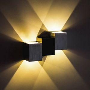 Applique Murale Interieur 6W Moderne LED Éclairage Mural Lumières Blanc Chaud pour Cuisine Escalier Chambre