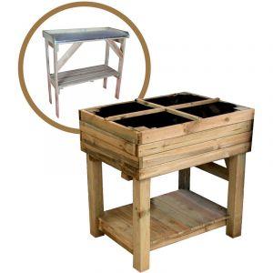 Kit potager sur pied + table de préparation Primevère - CÉMONJARDIN