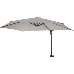 HHG - Parasol de mur Casoria, parasol déporté pour balcon ou terrasse, 3m inclinable ~ sable