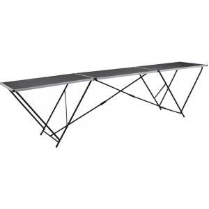 vidaXL Table a coller de papier peint Aluminium et Acier