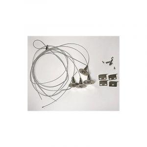 KIT SUSPENSION pour DALLES LED 4 câbles 1mètre + fixations - AREV