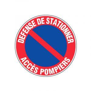 Panneau de signalisation rond | Ø: 30 cm - Modèle: Défense de stationner accès pompiers