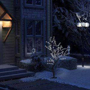 Sapin de Noël 128 LED blanc froid Cerisier en fleurs 120 cm - VIDAXL