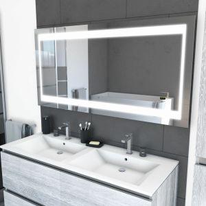 Miroir salle de bain LED auto-éclairant CHRONOS 140x70cm - AURLANE