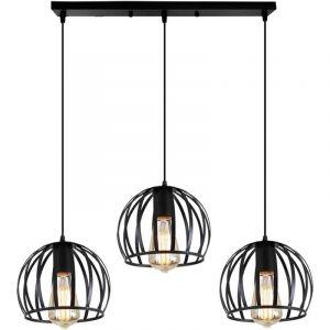 Retro Lustre Suspension Industrielle Cage Ajustable-Luminaire Salle à Manger Bar (Ampoule non incluse) - STOEX