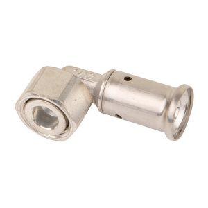Lot de 5 Coude 90° écrou libre laiton multicouche a sertir BE O32x3.0-1'' - HENCO