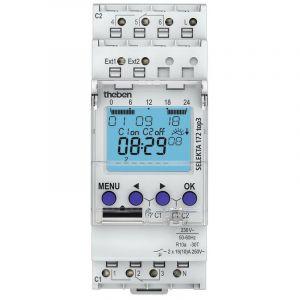Horloge astronomique digitale Selekta 172 top3 - 2 canaux - Blanc - THEBEN