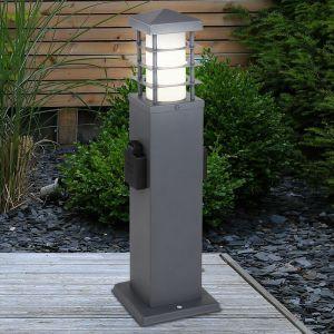 Éclairage de chemin à LED, 2 douilles, acier inoxydable, H 34,5 cm - ETC-SHOP