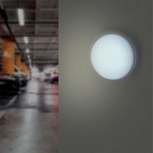 Applique LED Murale 20W Blanche Ronde IP65 (Pack de 10) - Blanc Froid 6000K - 8000K - SILAMP
