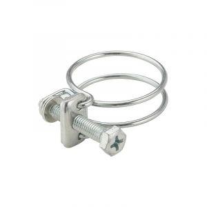 AROZ Collier 2 fils acier serrage diamètre 24-28 (x2)