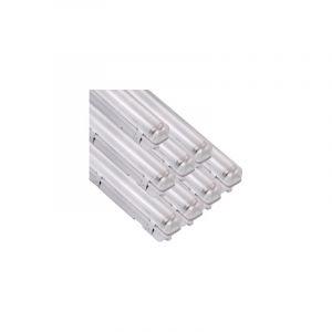 Silamp - Réglette LED étanche double pour Tubes lumineuse LED T8 120cm IP65 (boitier vide) (Pack de 8)