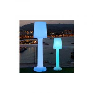 Lampe sur pied MOOVERE Solaire 110cm extérieur Batterie rechargeable LED/RGB