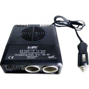 Convertisseur de tension HP Autozubehör Spannungswandler 24V auf 12V 20118 96 W (L x l x h) 11.5 mm x 11 cm x 4.5 cm Tension de sortie=12 V Tension de