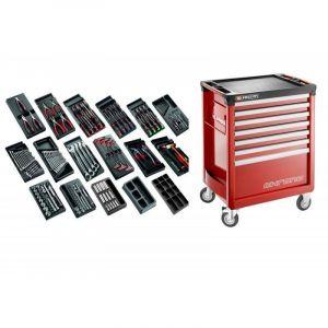 CM.166 Sélection tous métiers 166 outils et servante 7 tiroirs 7 tiroirs - FACOM