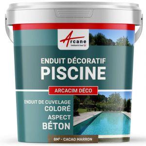 ENDUIT DE CUVELAGE PISCINE FINITION BETON CIRE - ARCACIM DECO - ARCANE INDUSTRIES - Cacao - Marron - kit de 8 m²