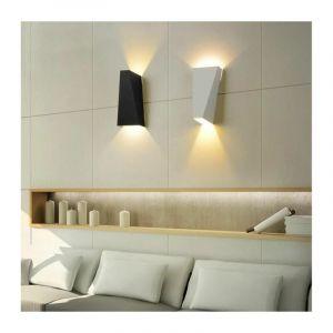 10W Applique Murale Interieur Lot de 2 Moderne LED Éclairage Mural Lumières Blanc Chaud pour Cuisine Escalier Chambre