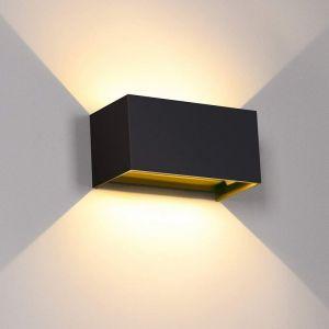 Longziming - 24W Applique Murale Interieur Exterieur 3000K Blanc Chaud avec Angle de Faisceau Réglable Lampe Murale Etanche IP65 Appliques Murales