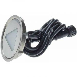 Mini spot encastrable triangle 0,3W 12v - Lumière Bleu - LECLUBLED