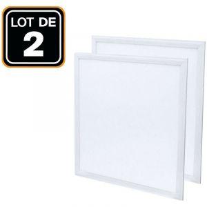 Europalamp - Dalle LED 600x600 40W lot de 2 pcs Blanc Neutre 4000k Haute Luminosité - Plusieurs modèles disponibles