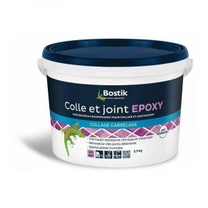 Colle carrelage : colle et joint epoxy blanc 2.5kg - BOSTIK
