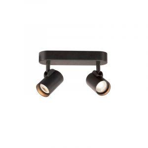 HELIA LED Double applique plafonnier, noir, LED 18W 3000K, 35° - SLV