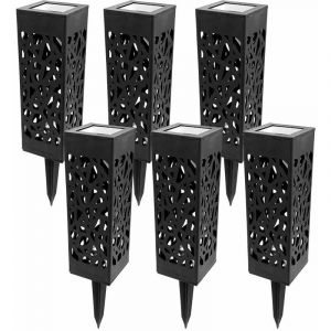 Borne solaire photophore - lot de 6 - TERRE JARDIN
