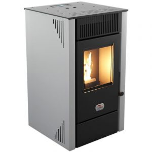 1282801-Poele A Granules Etanche-12Kw-A+-Flamme Verte 7*-Cstb-Foyer Fon Nordica Extraflame - Terryplusblanc