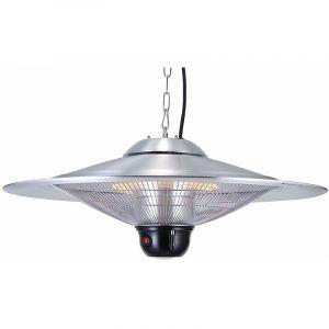 GREADEN - Parasol Chauffant Suspendu Infrarouge SATURN avec Télécommande et Une Lampe à LED - Chauffage électrique de terrasse à Halogène 2100W IP24 - Réglage, Radiateur Jardin/Patio/Tente/Terrasse/Intérieur - GR2RT3