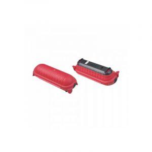 Coffret de sécurité étanche pour rallonges en polypropylène noir et rouge/orange vt-1124-3 8819 - V-TAC