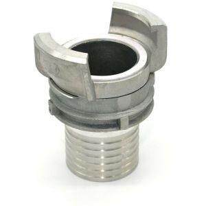 Demi raccord symétrique Guillemin, pompier, à douille annelée - aluminium - DN 40 x 35mm - MULTITANKS