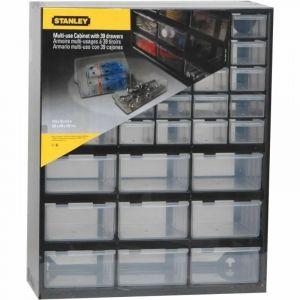 Casier de rangement 39 compartiments Stanley - Noir
