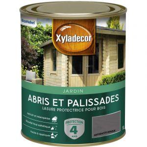 Lasure protectrice pour bois extérieur - Abris et Palissades - aspect mat anthracite opaque 1 L - Xyladecor