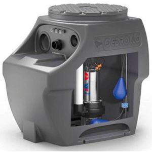 Station de relevage 250L - Pompe Inox 220V - 0.75 kW - Eaux chargées - PEDROLLO
