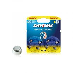 8 piles auditives Rayovac AH10 / PR70 / ZA10 SOUS BLISTER