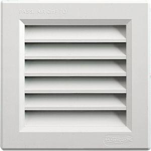 Grille ventilation PVC traditionnelle à encastrer 140x140mm à fermeture + moustiquaire - FIRST PLAST