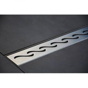 100 cm modèle Vagues - Caniveau de Douche Italienne Inox - CASA BAOLI