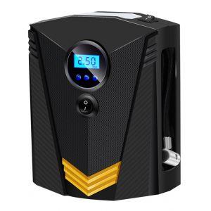 Asupermall - Compresseur D'Air Portable, Pompe De Pneu De Voiture Avec Manometre, Eclairage Led D'Urgence