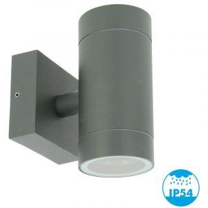 Applique VENICE Anthracite extérieure double faisceau GU10 IP54 - ARUM LIGHTING