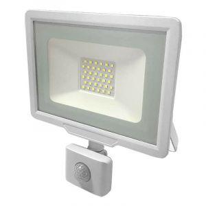 Optonica - Projecteur LED Blanc 30W (150W) à Détecteur IP65 2400lm - Blanc du Jour 6000K