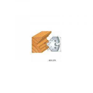 279 : jeu de 2 fers 50 mm 1/4 de rond congé pour porte outils 50 mm - LUXOUTILS